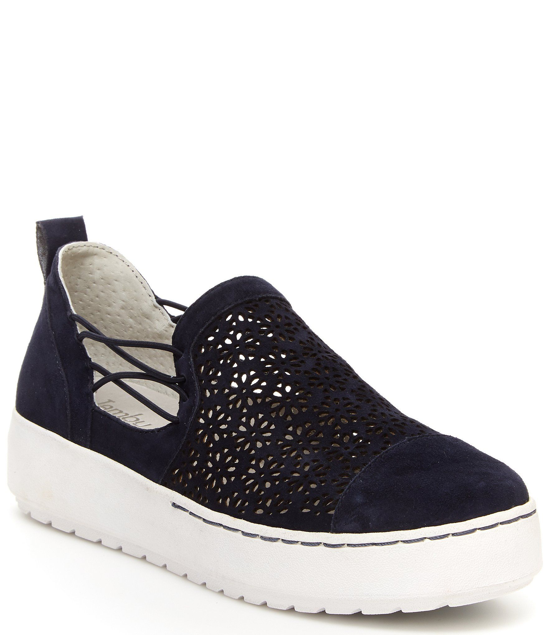 Jambu Erin Perforated Metallic Leather Slip On Sneakers | Dillard's #metallicleather