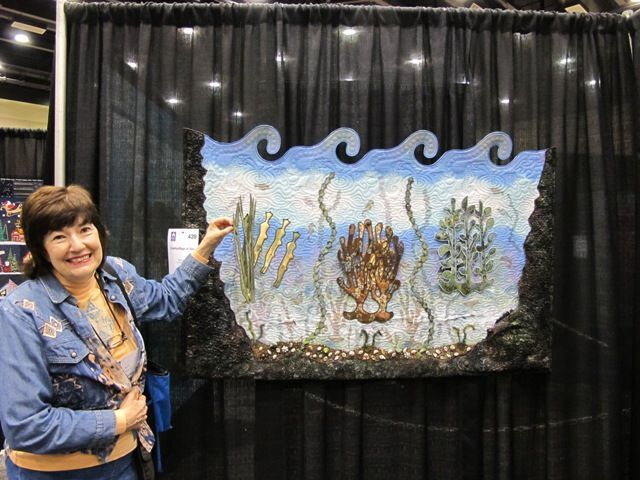 """Flora Joy's """"Under the Sea"""" dimensional quilt at the American Quilter's Society Quilt Show in Lancaster, PA!"""