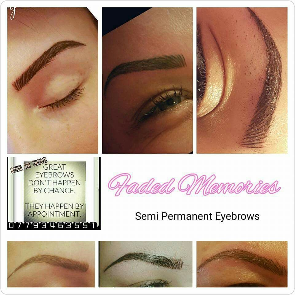 Semi Permanent Eyebrows Faded Memories Semi Permanent Eyebrows