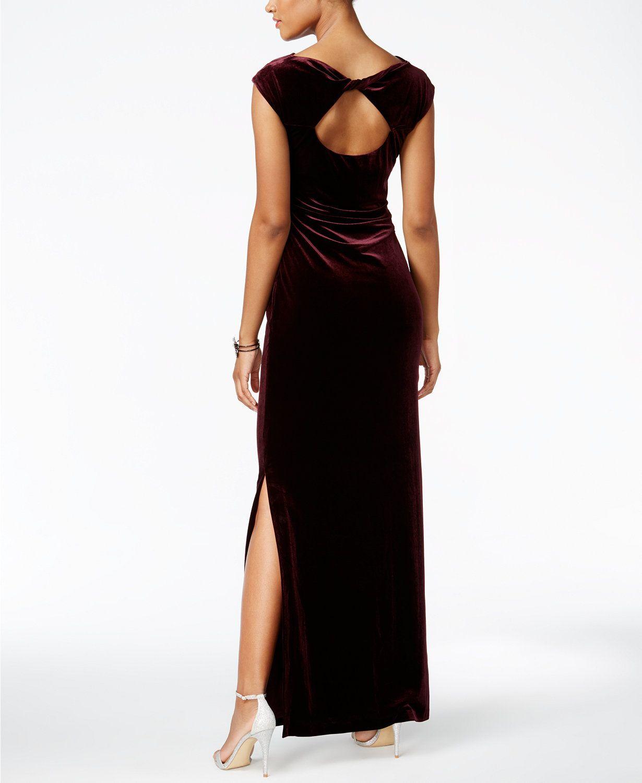 f6c681b2549d Vince Camuto Velvet Cutout-Back Gown