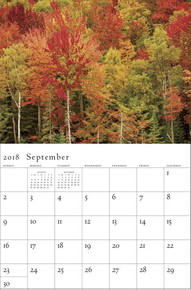 Beautiful September 2018 Wall Calendar Wall Calendar in 2018