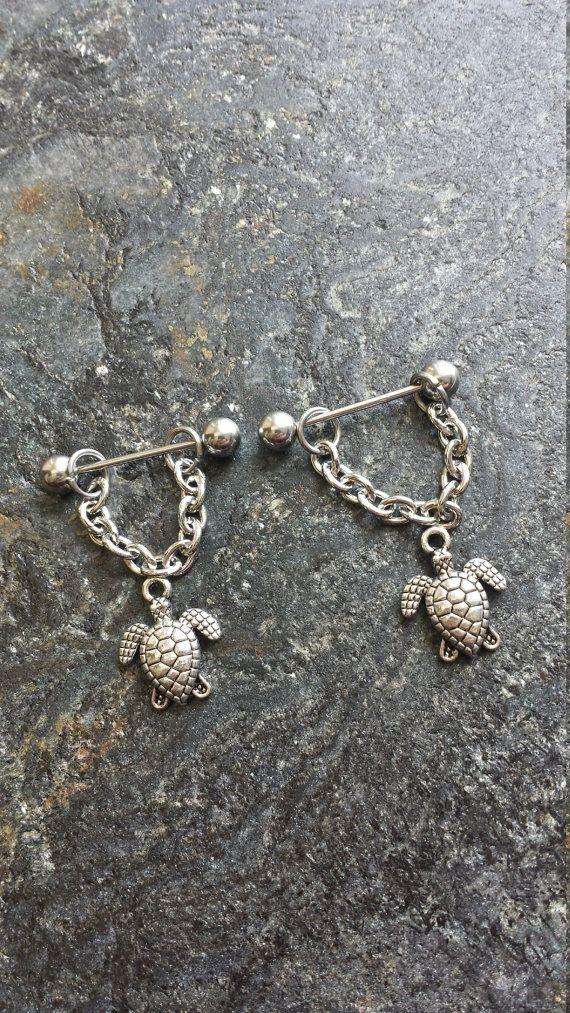 #nipplepiercing #nipplepiercings #nipplejewelry #nipplebarbells #piercing #piercings #bodypiercing #bodyjewelry SALE!! Ocean Turtles Tortuga Beach - Set of 2 !! 14g (1.6mm) or 16g (1.2mm) Nipple Barbell Jewelry Piercings Accessory 14 16 Gauge