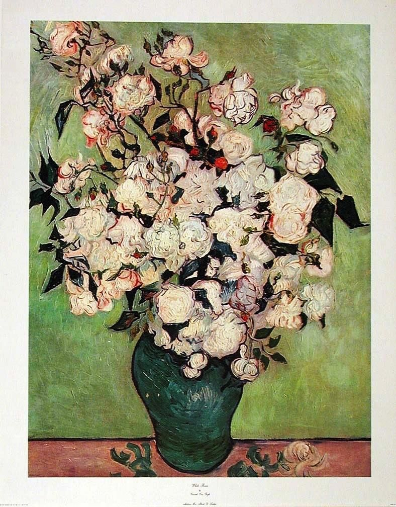 Pin by sala on la vie en rse i peintures a vase of roses 1890 by vincent van gogh art print larger reviewsmspy