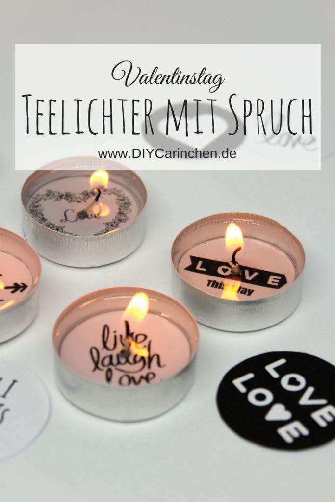 DIY Süße Teelichter mit Liebesbotschaft selber machen + Videoanleitung