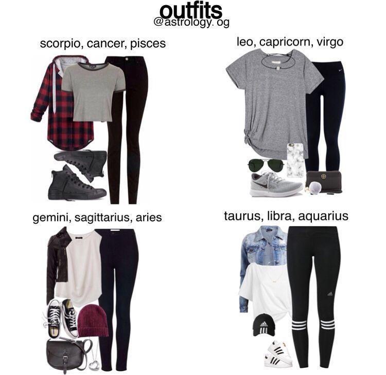 Zodiac Signs Outfits ` Zodiac Signs Outfits