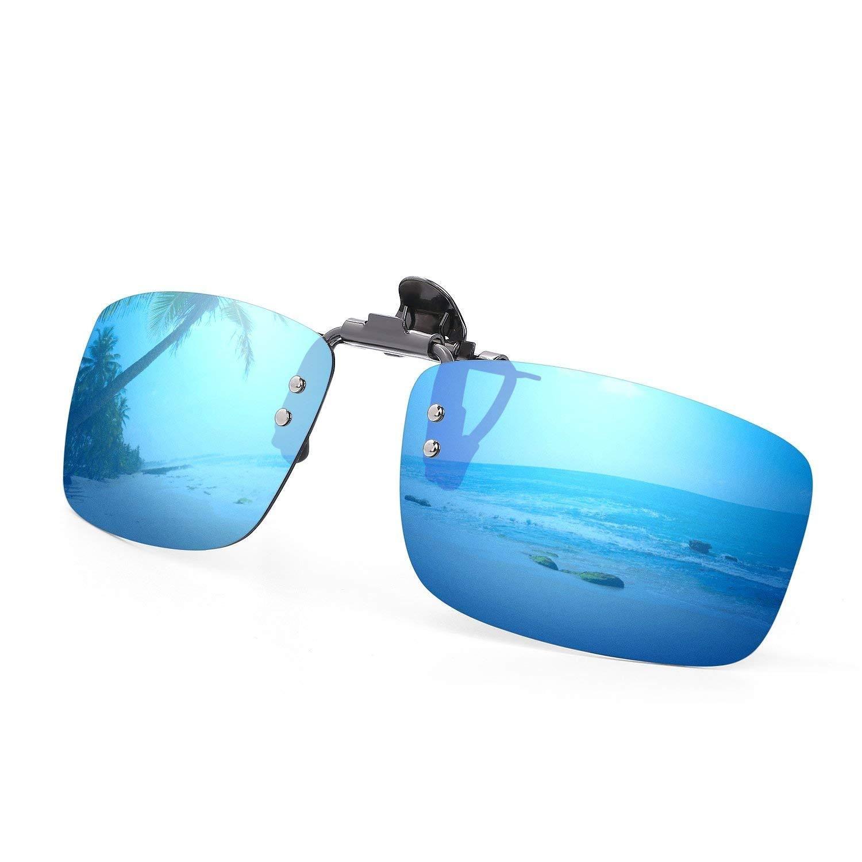 Blue Kanstore Portable Rectangle Grid Zipper Eye Glasses Case Hard Eyewear Box for Sunglasses