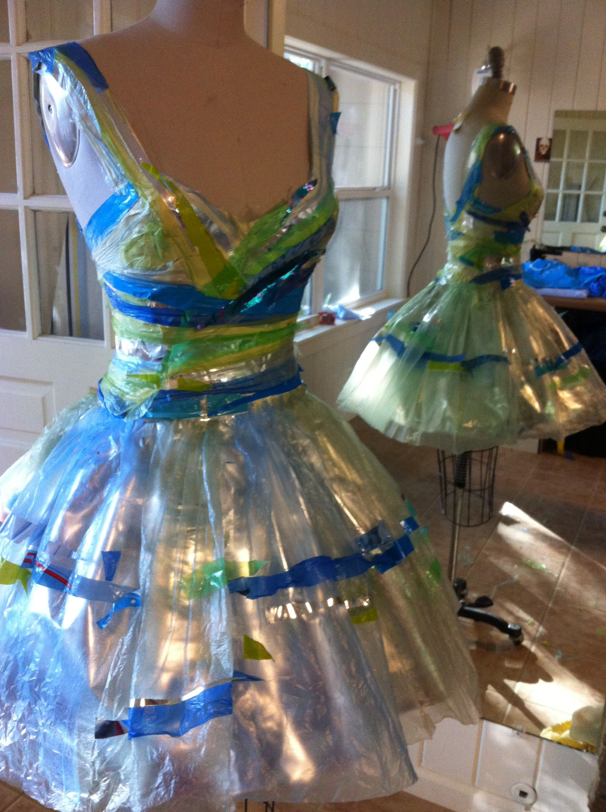 Plastic Bag Ballerina Dress Recycled Dress Recycled