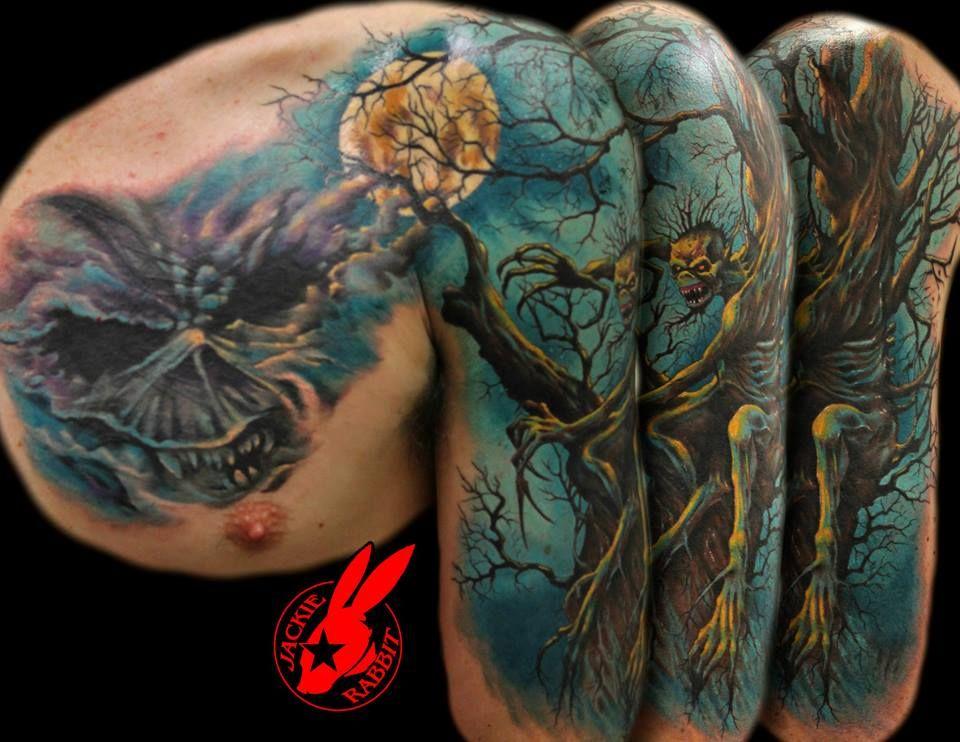 iron maiden tattoo by jackie rabbit by on deviantart eddie. Black Bedroom Furniture Sets. Home Design Ideas