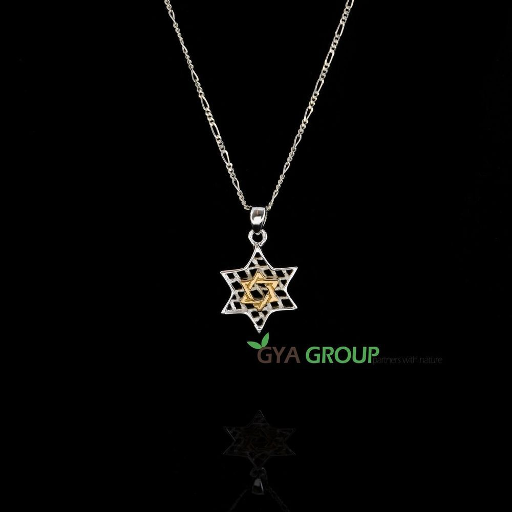 A stunning 925 sterling silver star of david pendant gold plated a stunning 925 sterling silver star of david pendant gold plated magen david aloadofball Image collections