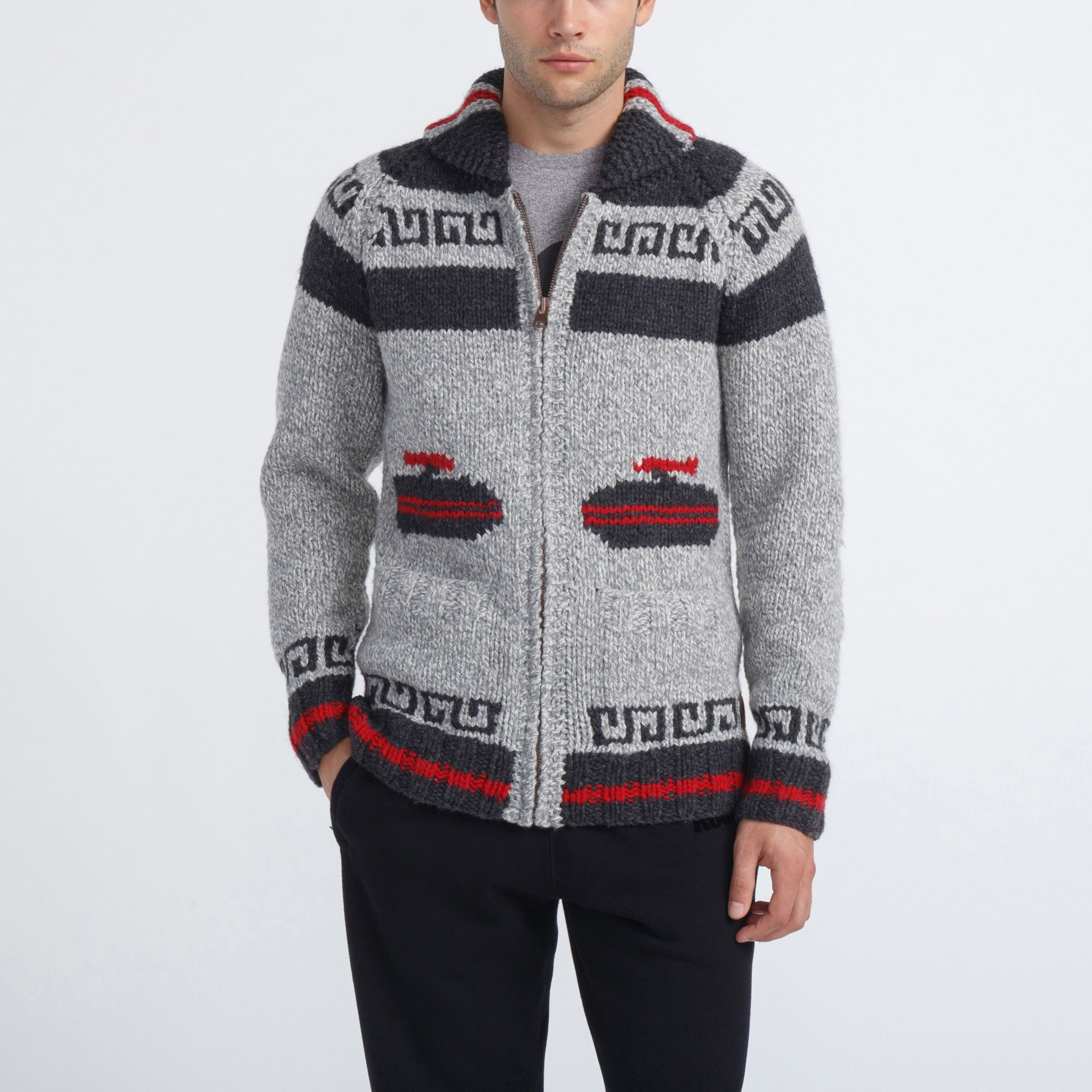 Unisex Mary Maxim Curling Sweater   Roots - Holiday 2015, style ...