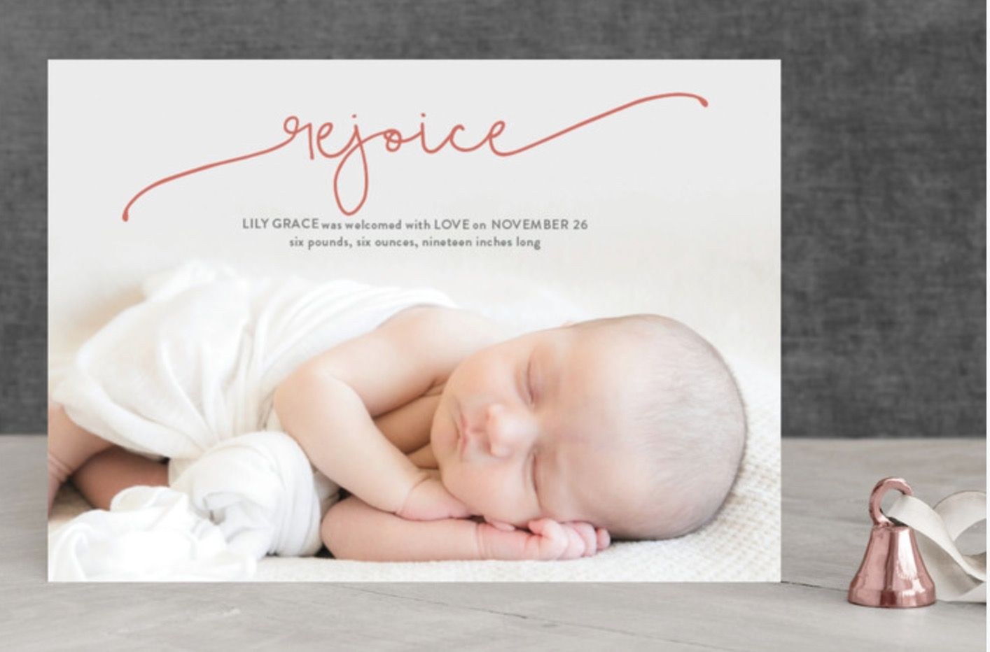 Miracles photo Christmas card by Carol Fazio for minted.com. Baby\'s ...