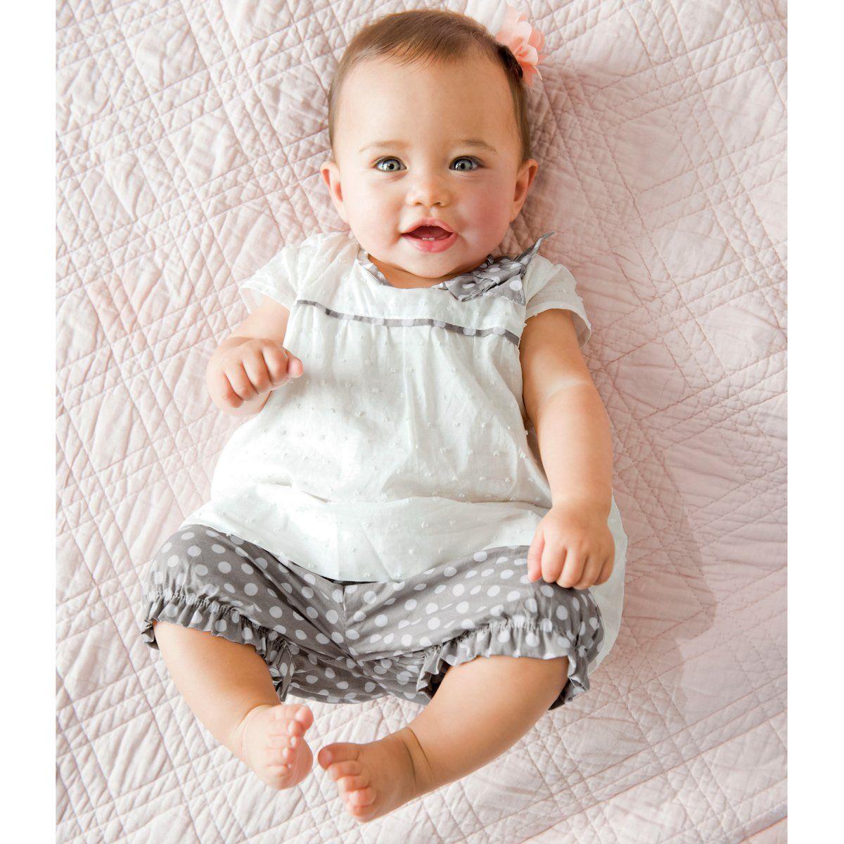 Conjunto de túnica y pantalón bombacho para bebé niña   COCOON   La Redoute