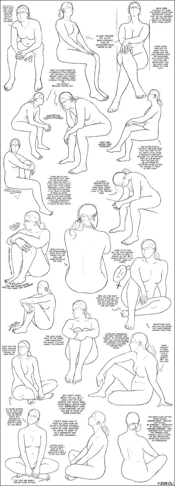 Sitting Tutorial by DerSketchie.deviantart.com on @DeviantArt: