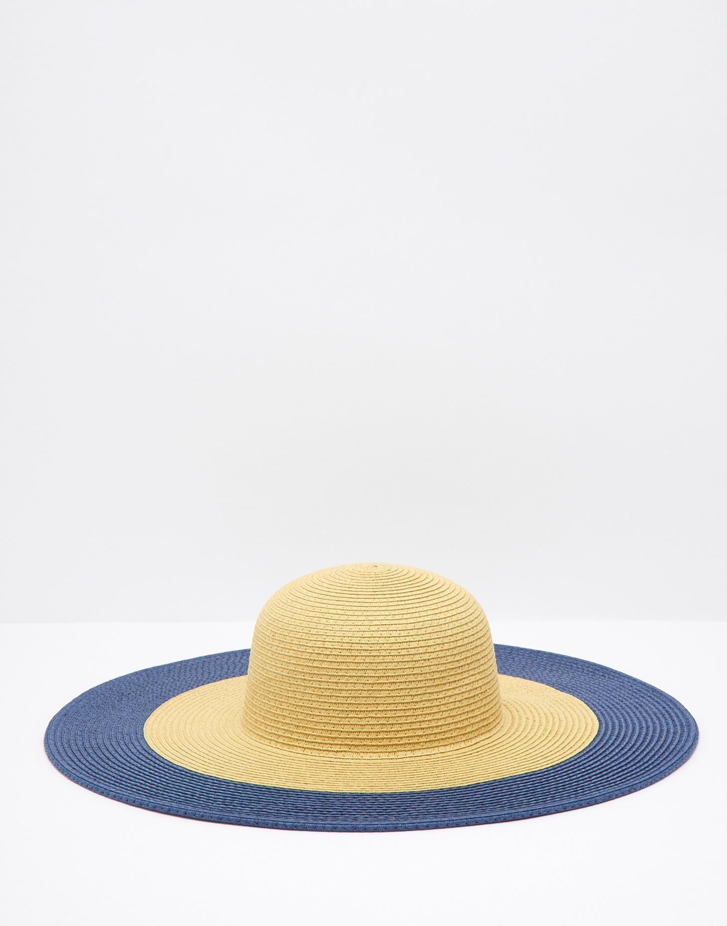 deaebd5d Mandy Blue Print Wide Brimmed Sun Hat | Cute Accessories