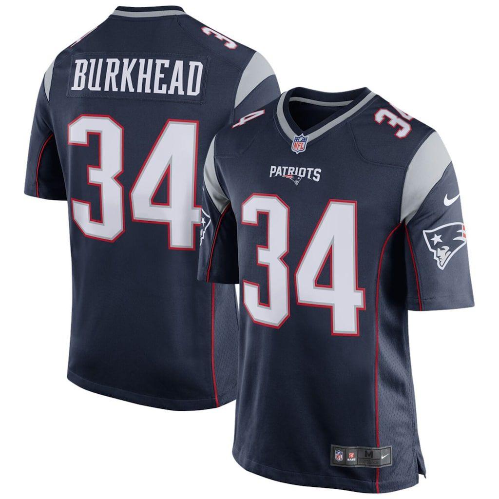 Men S Nike Rex Burkhead Navy New England Patriots Game Jersey New England Patriots Game New England Patriots Football New England Patriots