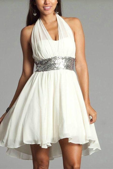 Halter Ruched V Neck Fashion Short Sleeveless Natural Sequins ...