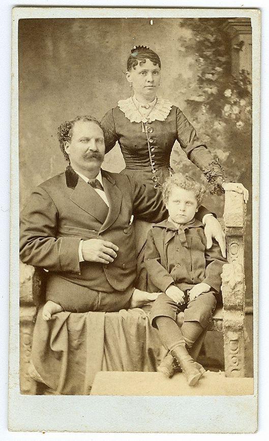 Cdv1880S Eli Bowenwife Og Unge Childpt Barnum-9941