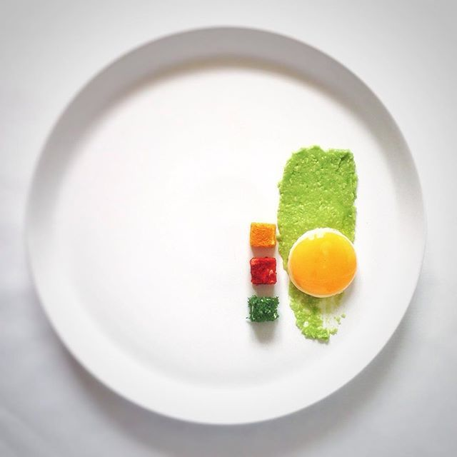 runny egg on lemon-avocado pureé along with a triology of goat cheeses! #theartofplating #chefsofinstagram #wildchefs #photooftheday #food #foodart #gastroart #beautifulcuisines #foodandwine #howisummer #ondejeune #f52grams #elenaehrung #putaneggonit #avocado #keto #lc #lchf #diabeticfriendly #paleo #primal #fitfood #fitfam #foodstagram #foodpics #instafood #breakfast #foodporn #vegetarian by elenaehrung