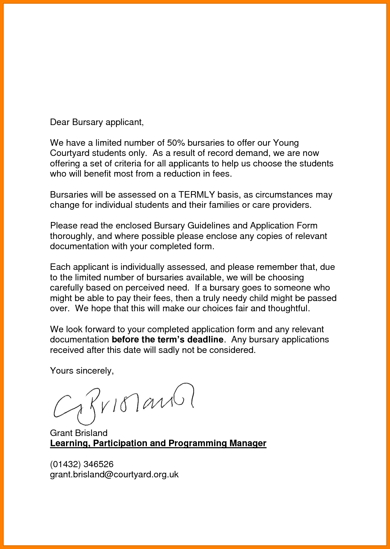 Bursary application letter example creator amazing cover letters bursary application letter example creator amazing cover letters vacancy and madrichimfo Image collections