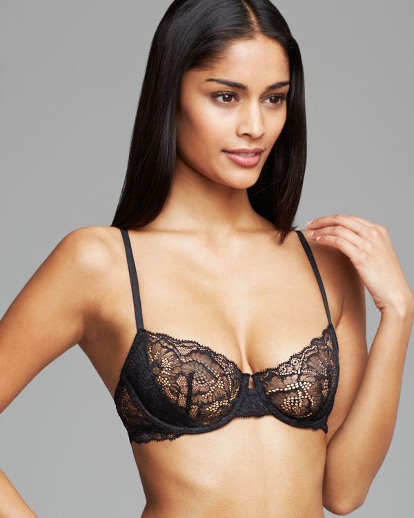 dbc8a3b633 Calvin Klein Underwear Black Label Lace Unlined Underwire Bra  F3739 ...