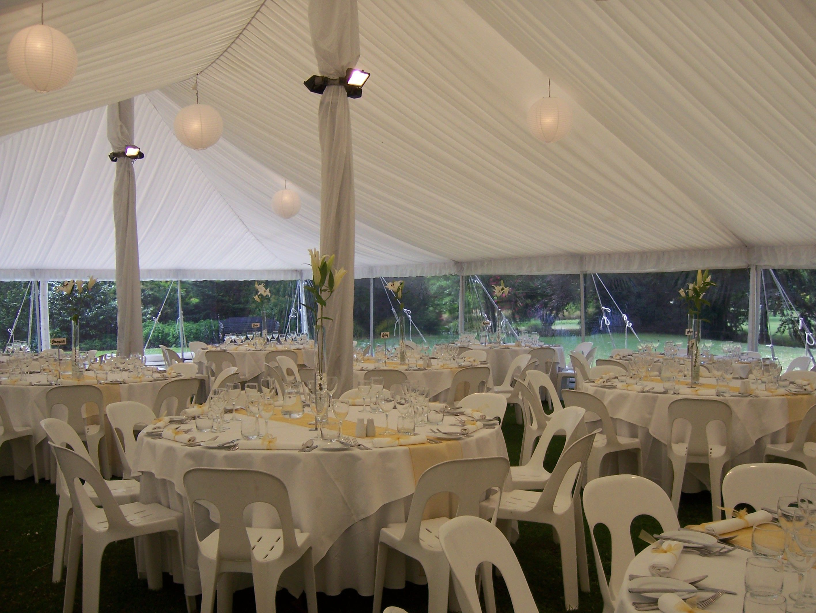 Set inside with Pipee Chairs Marquee Weddings Pinterest