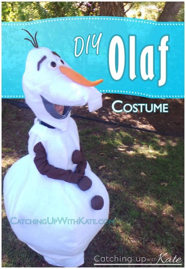DIY Olaf Costume Frozen Summer Camp Pinterest Diy olaf costume - frozen halloween decorations