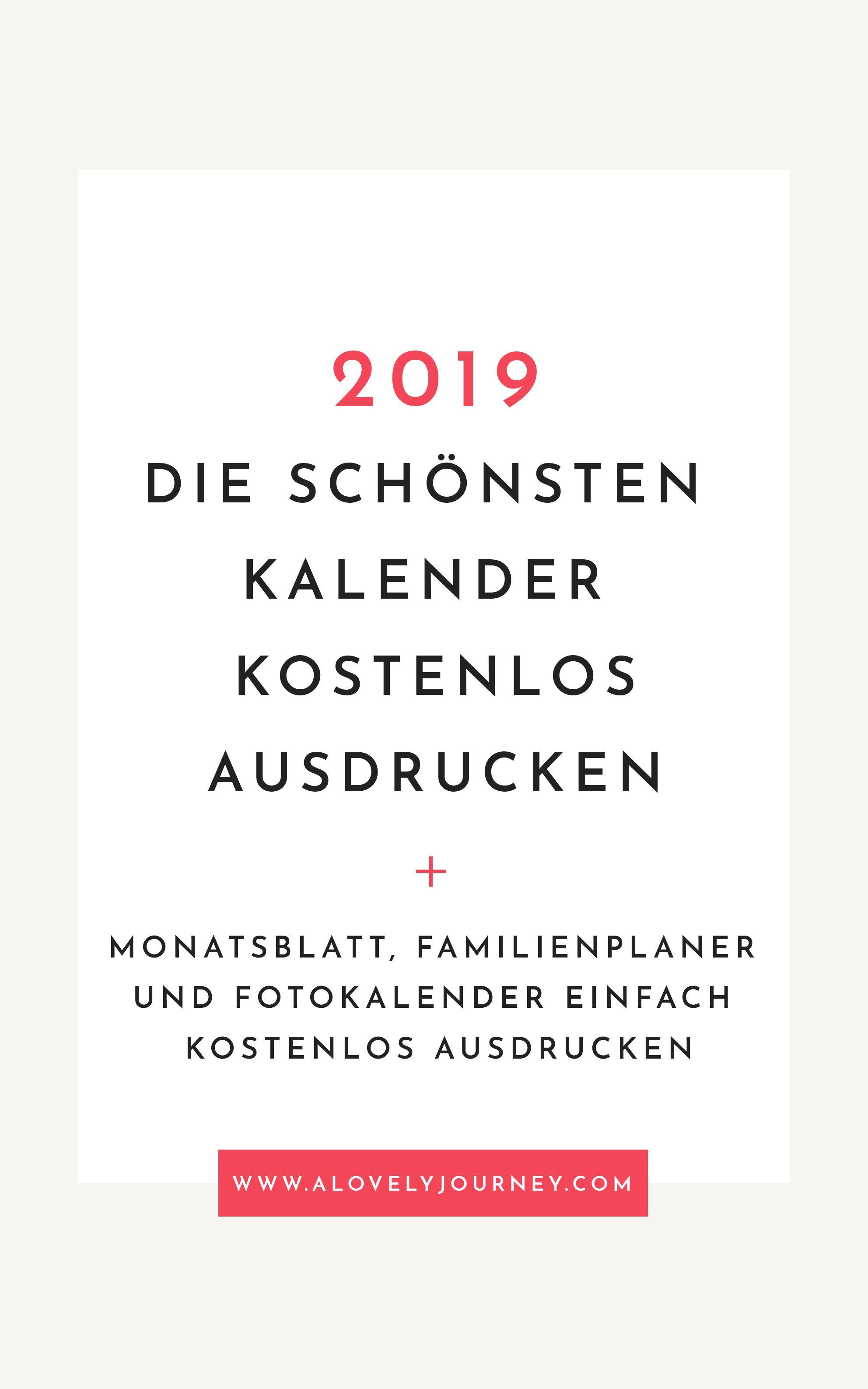 Organisiert Die Schonsten Kalender 2019 Kostenlos Ausducken