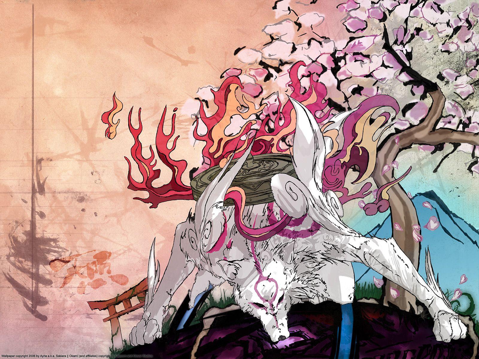 Wallpapers Okami Games Image 254363 Download Okami Suspended Animation Amaterasu