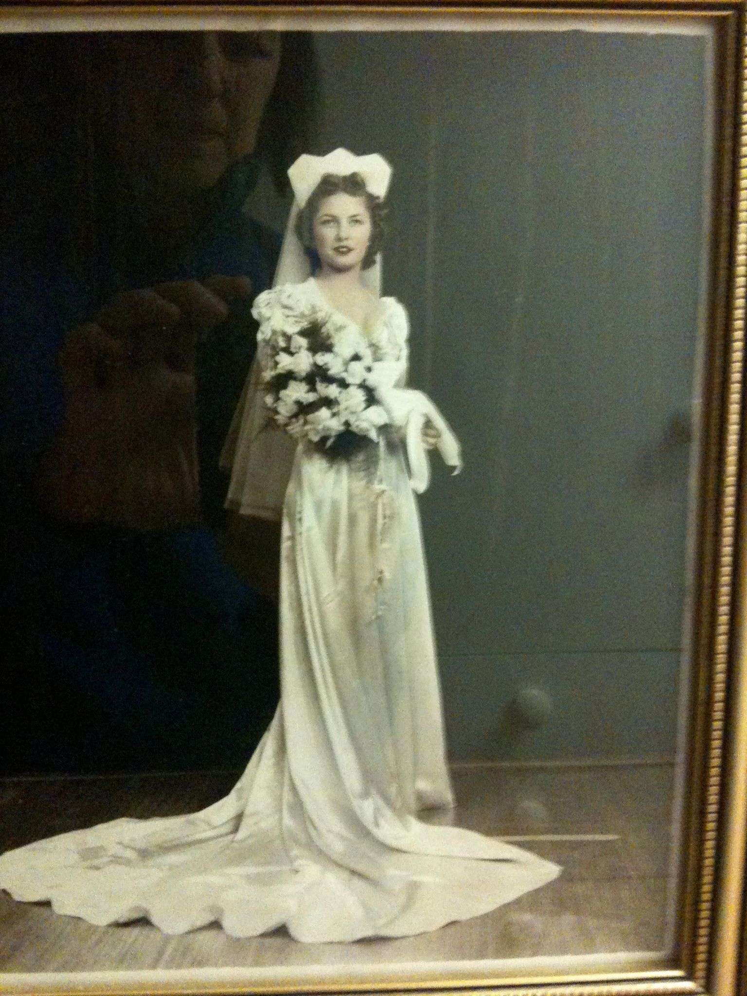 My maternal Grandmother Phyllis on her wedding day. Isn't she stunning?