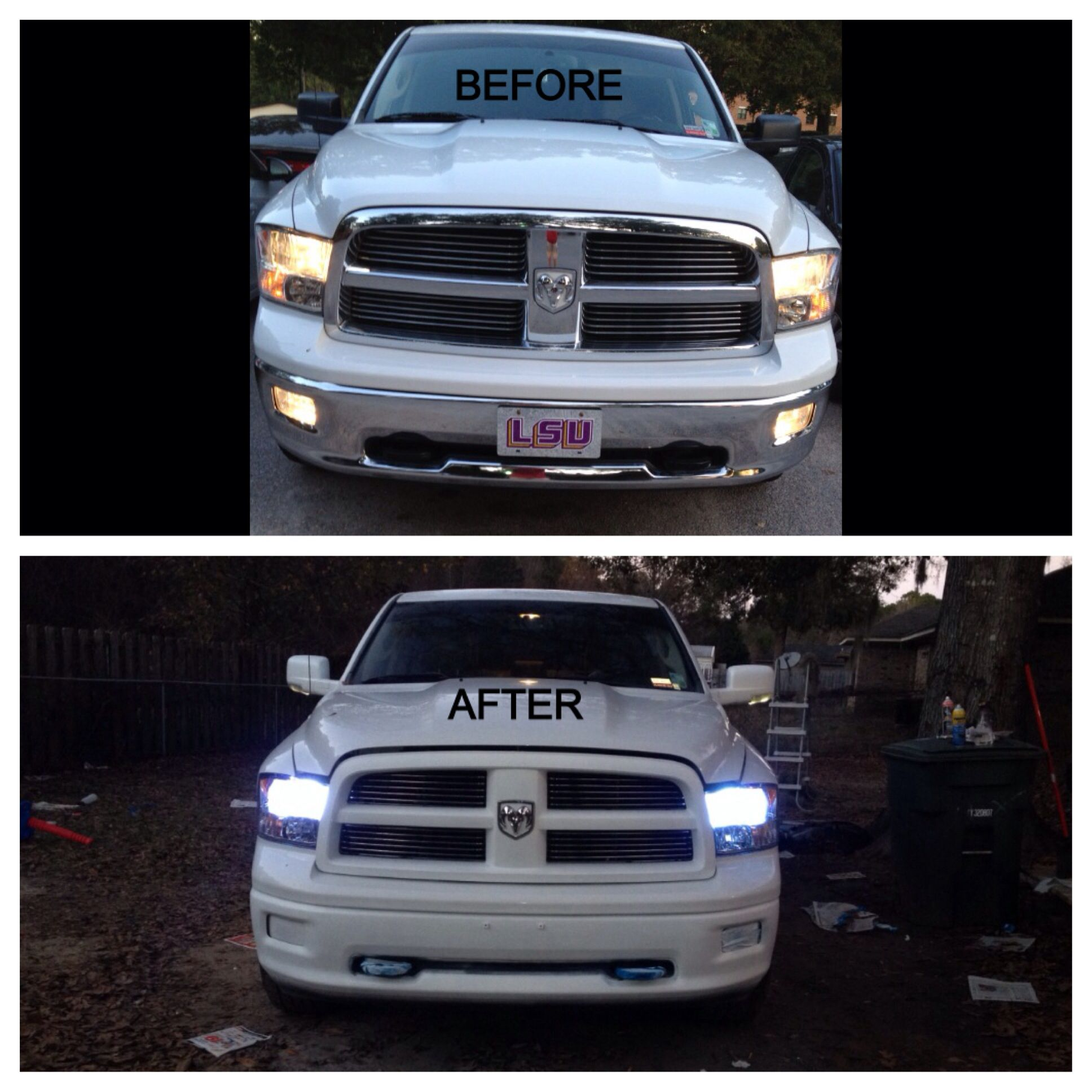 The Start Of Our White Out Project On Our 2012 Dodge Ram