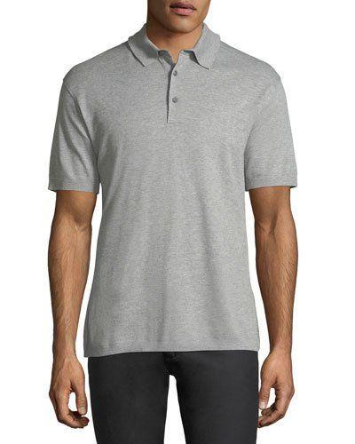 bb0a68fa Cotton Pique Polo Shirt Light Gray | Products | Pique polo shirt ...