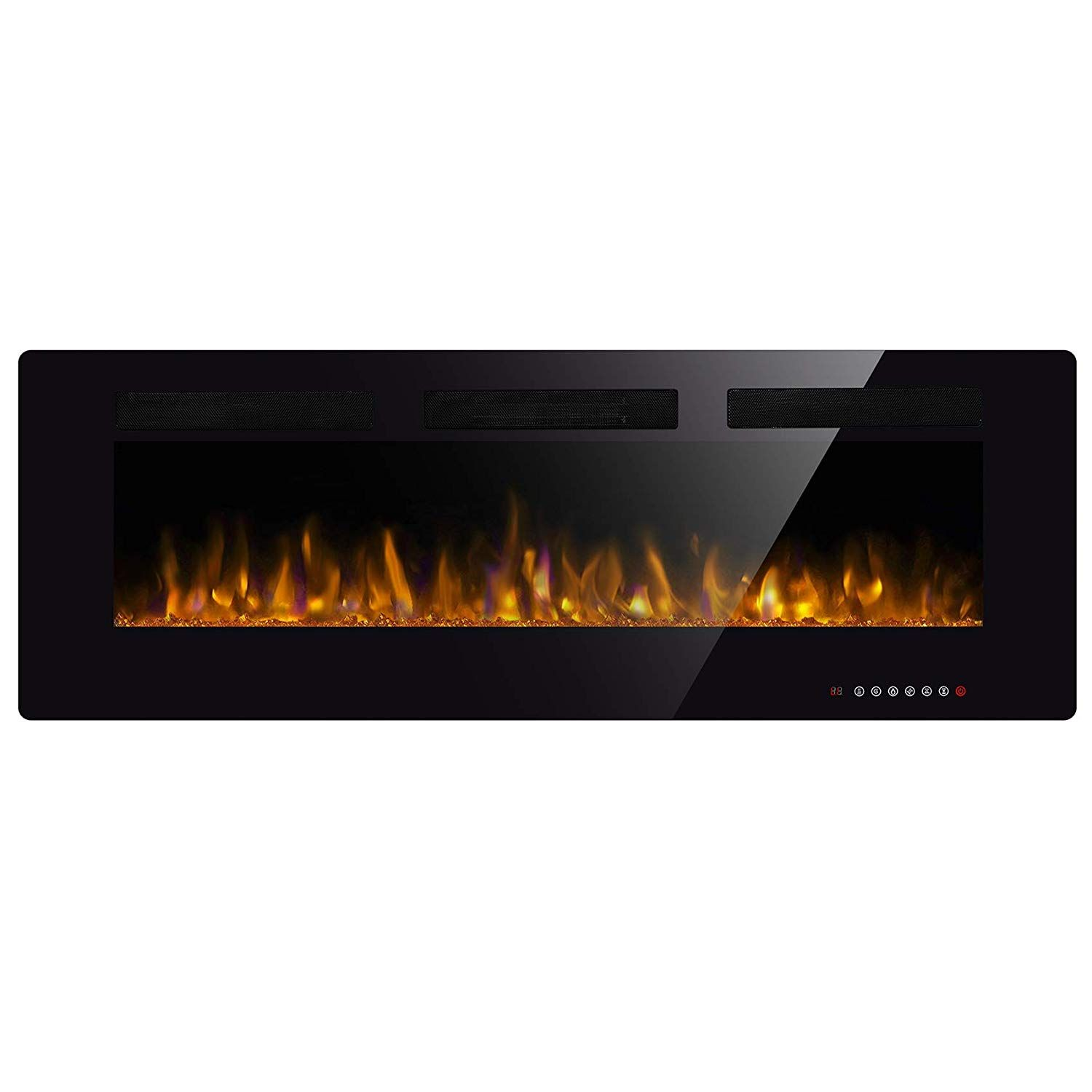 Amazon Com Jamfly Recessed Electric Fireplace 50 In Wall Mounted