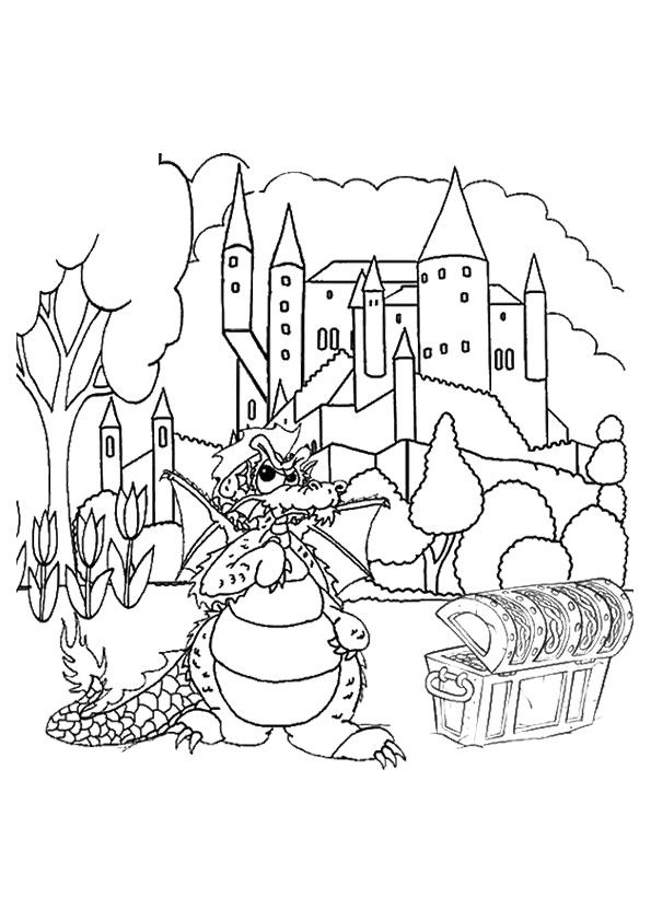 25 Best Dragon Coloring Pages Your Toddler Will Love To Color Coloring Pages Abc Coloring Pages Dragon Coloring Page