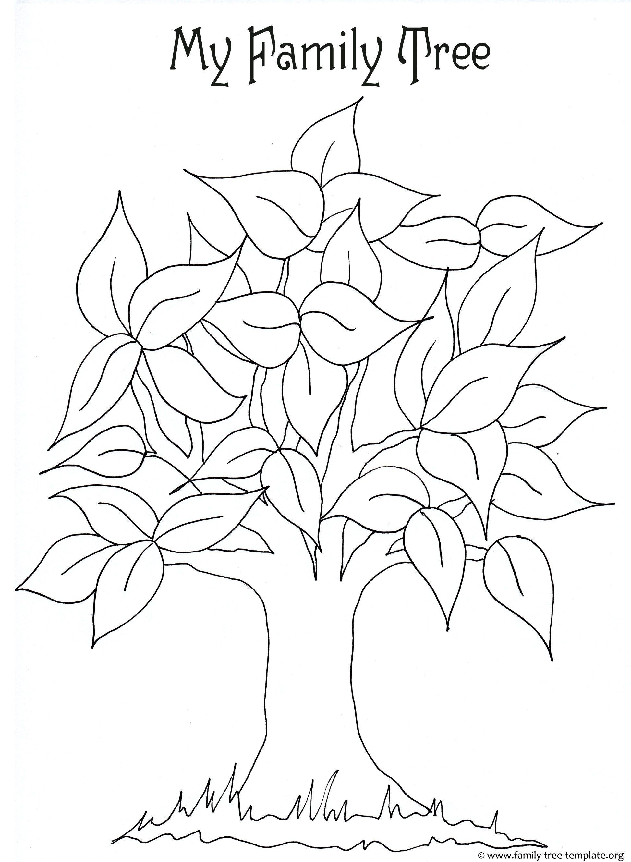 Free Editable Family Tree Template Family tree craft
