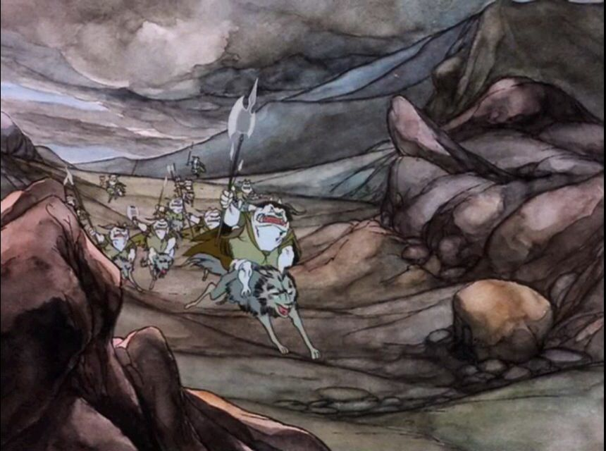 Battle of four armies: The goblins riding on wargs | Issac ...
