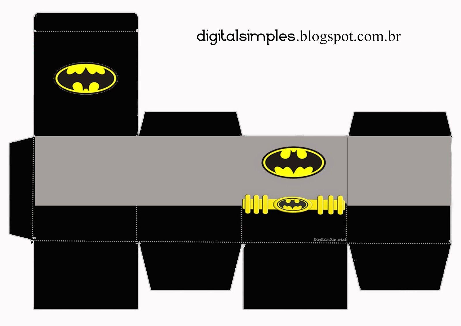 Resultado de imagem para cubos surpresas batman molde