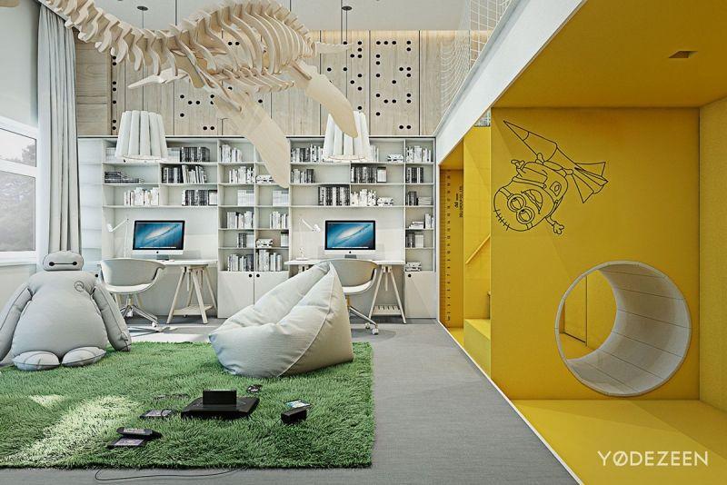 Aménagement intérieur maison de luxe adaptée aux enfants!
