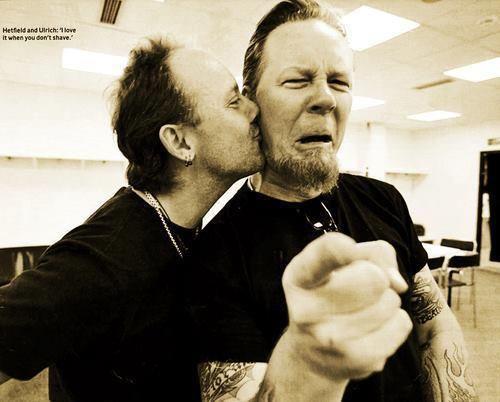 James Hetfield Metallica And Lars Ulrich Bild Metallica James Hetfield Megadeth