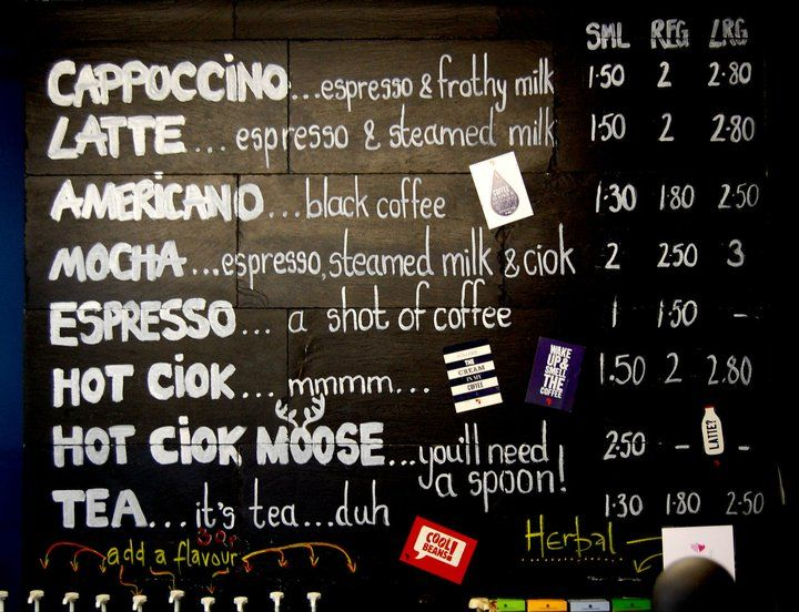 Cafe run by husband of Michela Chiappa, presenter of Simply - italian menu