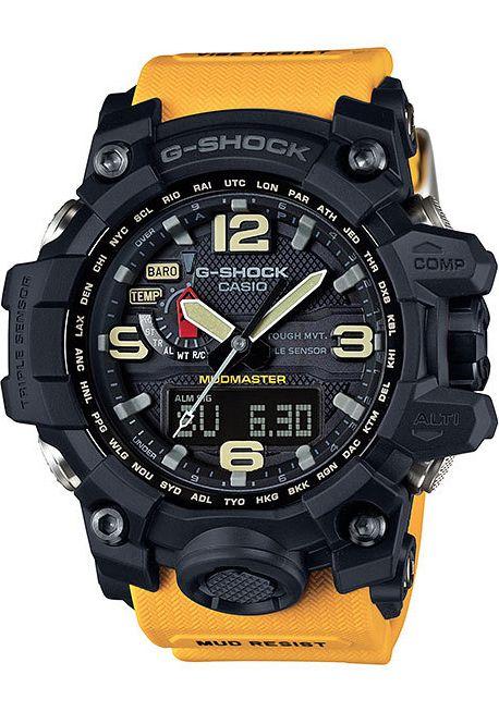 G Shock Mudmaster Atomic Solar Yellow Casio G Shock Watches G Shock Watches Mens G Shock Mudmaster