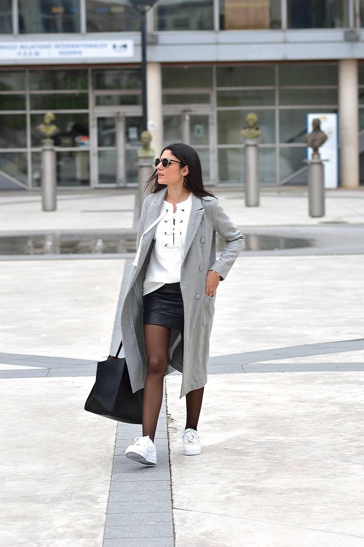 Préférence look baskets jupes hiver tendance mode 2016 | Sneakers Collant  DX15