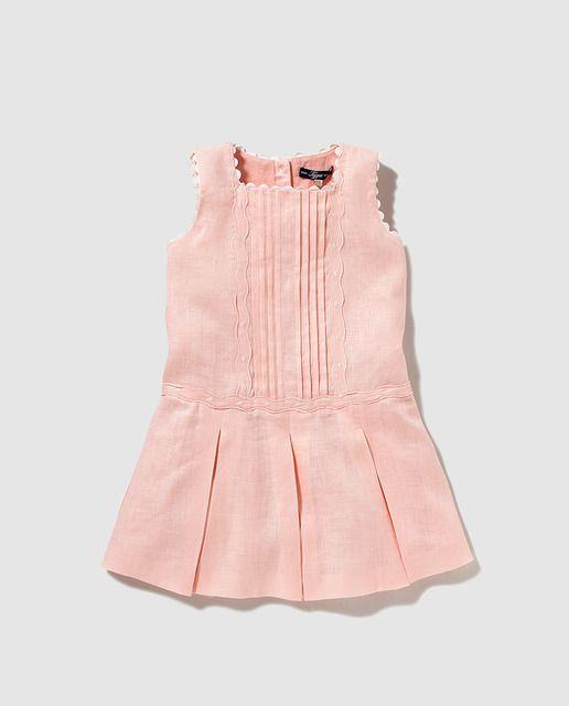 588b6ad41 Vestido de niña Tizzas rosa con tablas