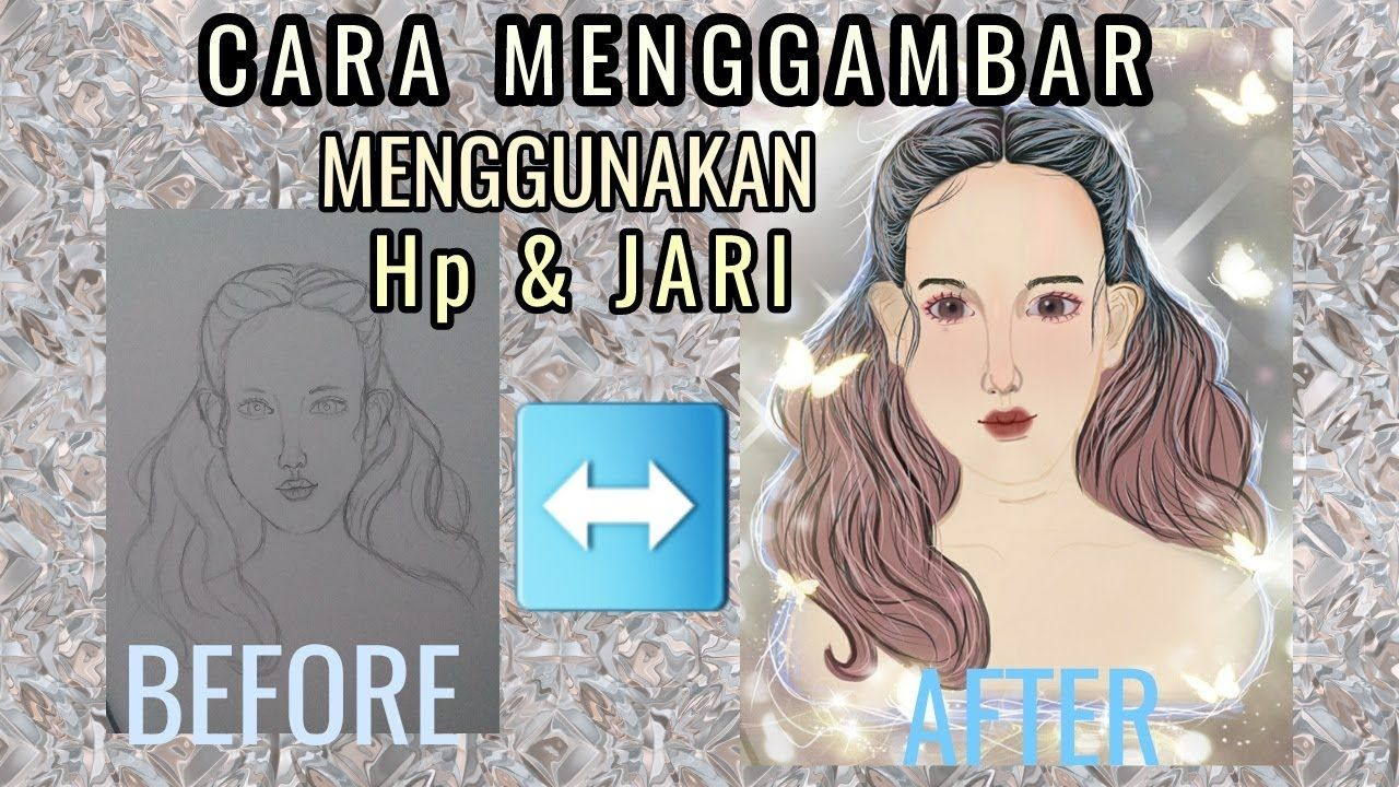 eassy way to draw on your phone // menggambar menggunakan hp ...