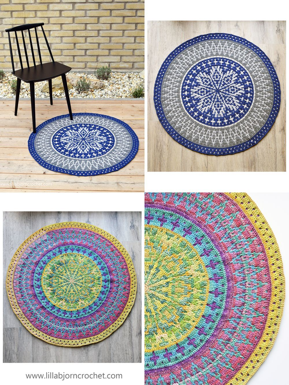 Crochet Pattern Ocean Time Mandala Rug The Pattern Uses Popular Mosaic Crochet With Only Simple St In 2020 Crochet Mandala Pattern Mandala Rug Crochet Rug Patterns