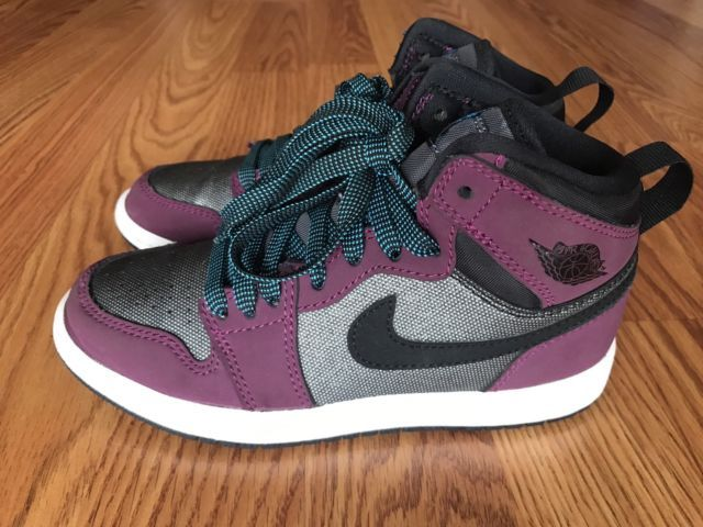 buy popular 3a133 ae367 Nike Air Jordan 1 Retro High Youth Size 13C MULBERRY - Purple Gray  705321-505   eBay