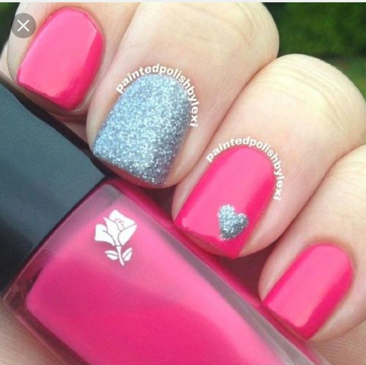 Valentine S Day Nail Idea Nail Designs Valentines Simple Nails Valentine Nail Art