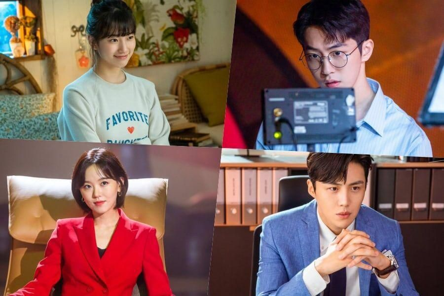 """Suzy, Nam Joo Hyuk, Kim Seon Ho, And Kang Han Na Get Into Character Behind The Scenes On """"Start-Up"""""""