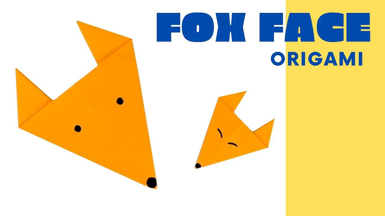 Photo of Origami fox face [easy origami] | DYI paper fox