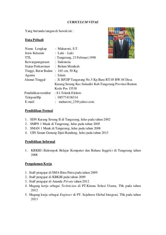 Hasil gambar untuk contoh cv yang baru lulus sma SURAT LAMARAN - lpn resume sample new graduate