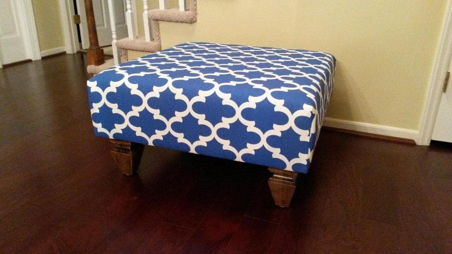39++ Upholstered ottoman coffee table blue ideas